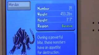 Monster Racers DS- All monsters (including Exotic versions!)