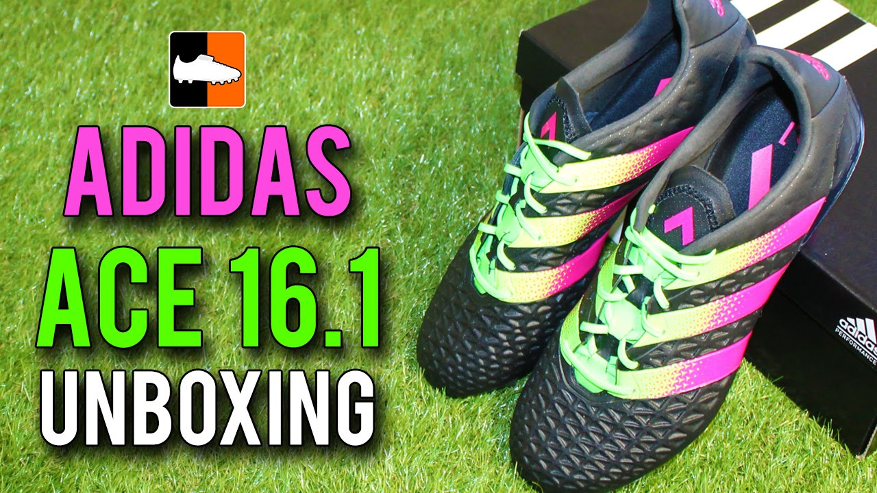 ff0bc8174be5 ... football shoes 4a3c4 14335; cheap adidas ace 16.1 unboxing core black  solar green shock pink edition youtube 6df91 61e65
