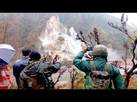 Incredible footage shows massive landslide in Indian-controlled Kashmir