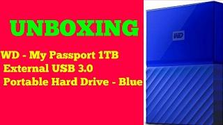 UNBOXING -WD MY PASSPORT ITB EXTERNAL HARD DRIVE - BLUE - SHRI SHOT