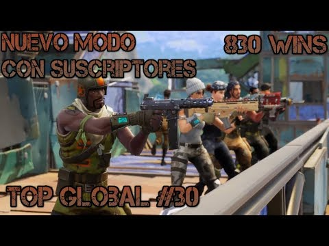 FORTNITE BATTLE ROYALE -840 victorias-top global 30- JUGANDO CON SUSCRIPTORES- REDORD!