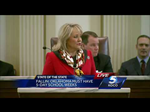Fallin discusses budget, teacher pay raise in State of the State address