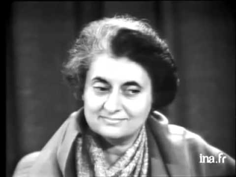 Indira Gandhi interview French !