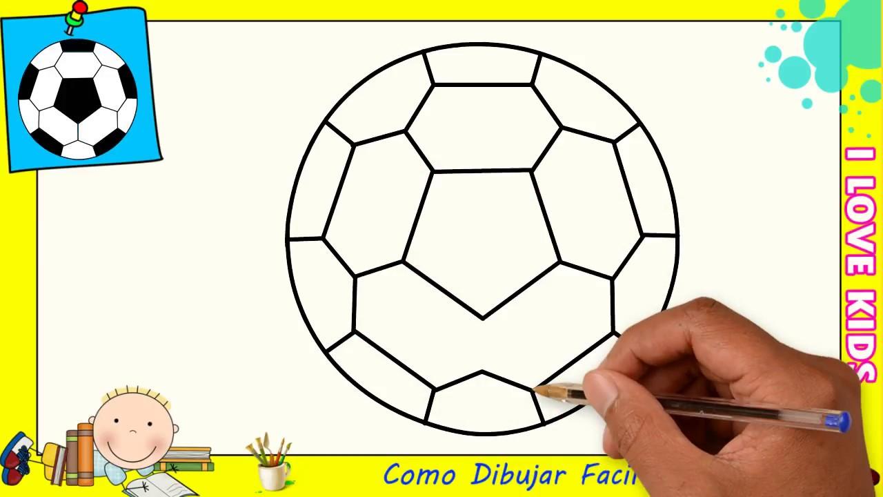 Cómo Dibujar Un Balón De Fútbol Fácil