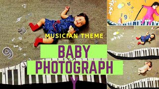 Beautiful Baby Photography | DIY | Musician Theme | 9 Monthly photography Routine