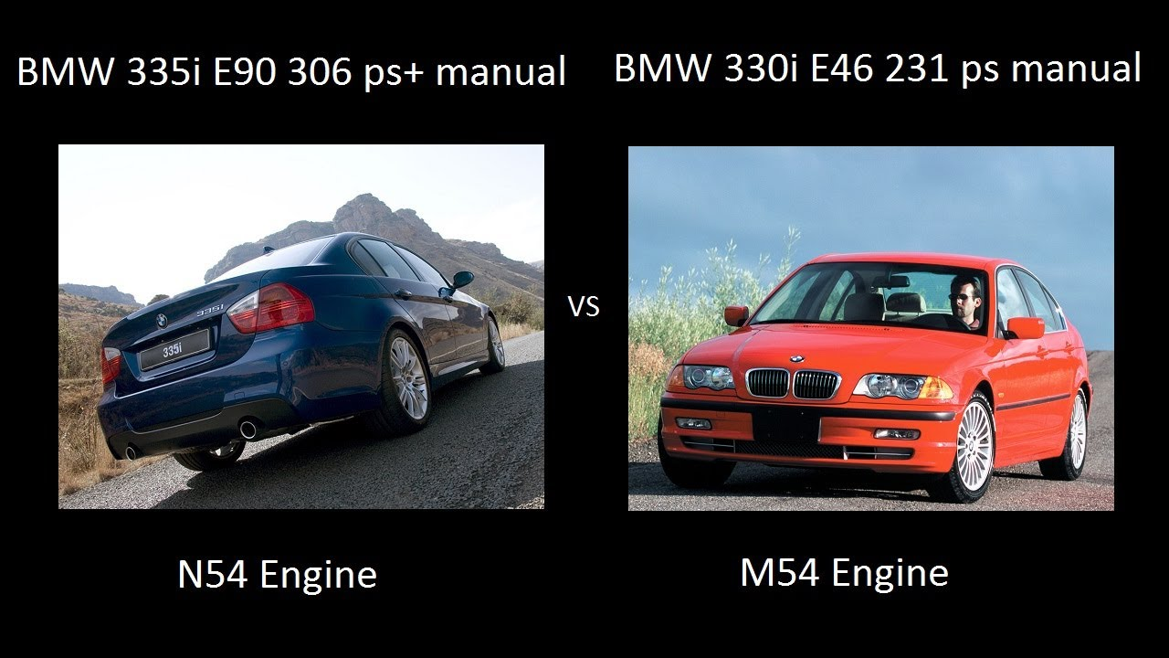 Bmw 335i E90 N54 Turbo Engine Vs Bmw 330i E46 M54b30 Drag