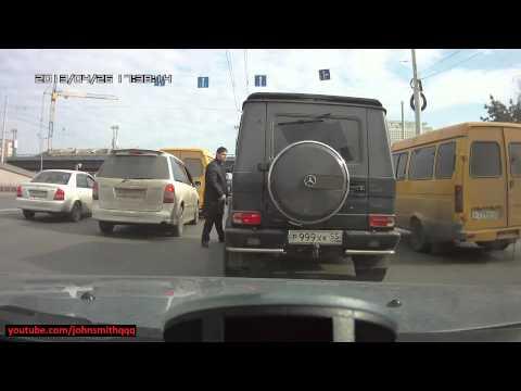 citizen fights back Russian mafia guy in Mercedes G