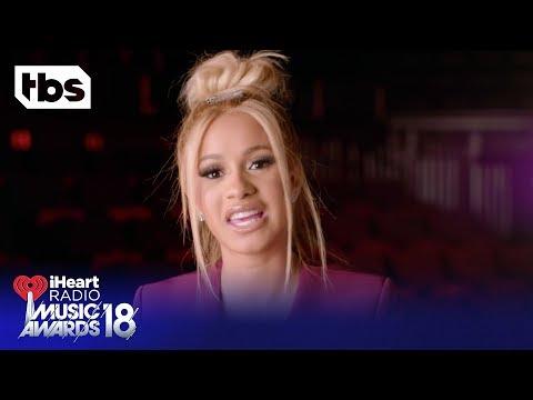 DJ Khaled, Cardi B and Ed Sheeran Intro the 2018 iHeartRadio Music Awards | TBS