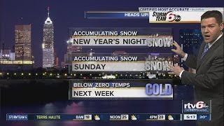 Tonight: 20-percent chance of light snow