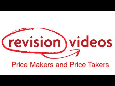 Price Makers Price Takers Revision World