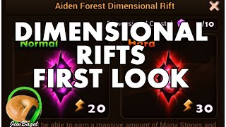 SUMMONERS WAR : DIMENSIONAL RIFTS - first look and gameplay normal & hard