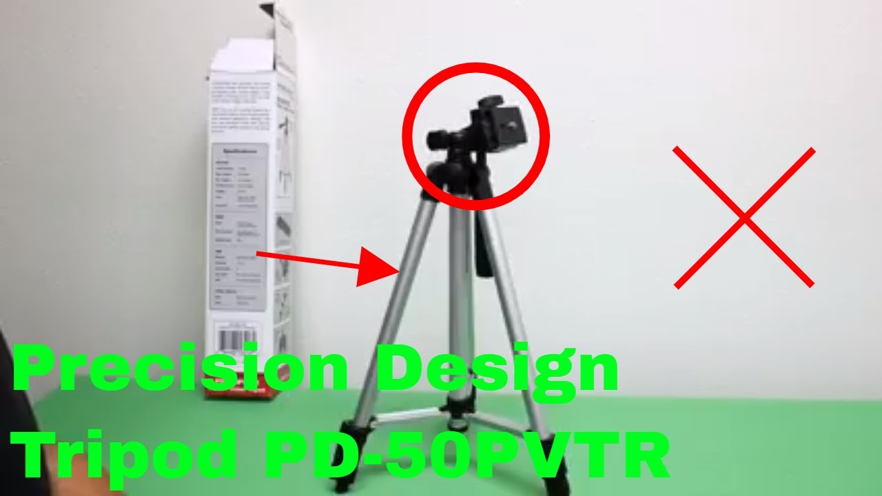 How To Use Precision Design Tripod Pd 50pvtr Review Youtube
