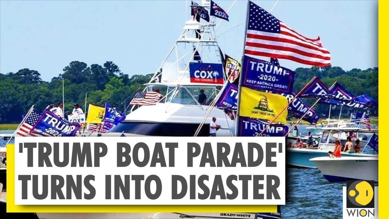 Several Boats Sank On Lake Travis In Texas During Trump Boat Parade Us America Youtube