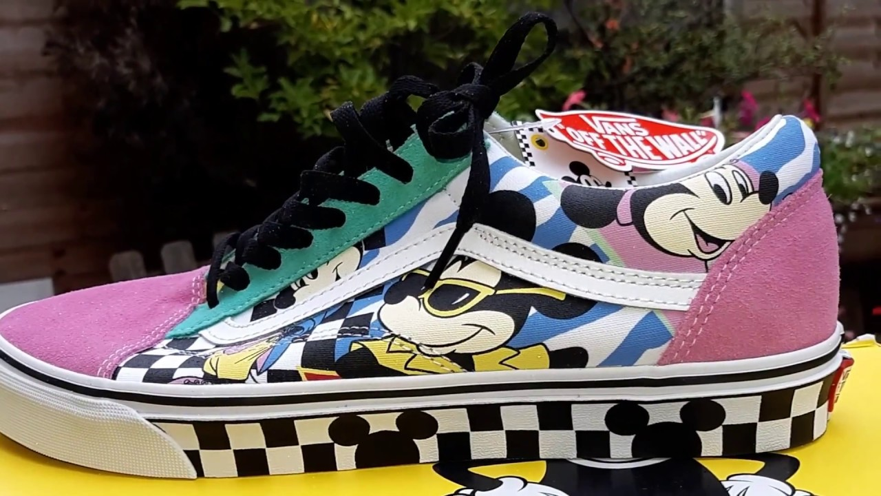 1e291bab6f0 Vans X Disney Mickey Minnie Mouse Old Skool Velcro Infant   80 s Mickey Old  Skool Onfoot   X2 Review