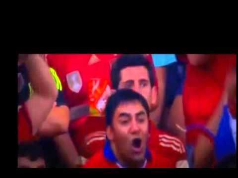 ハイライト スペインVSチリ 王者敗退! 2014ワールドカップ・グ