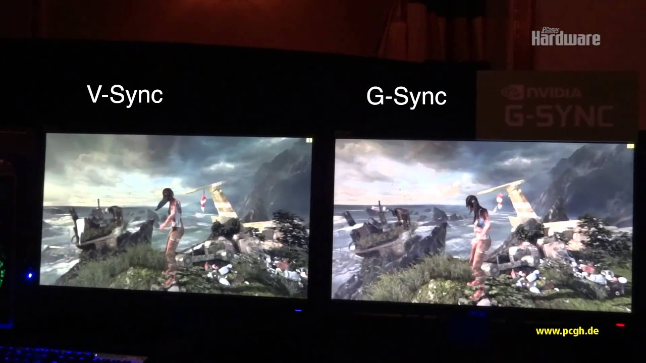 nvidia g-sync versus v-sync  tomb raider