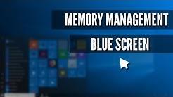 How Fix Memory Management Blue Screen on Windows 10