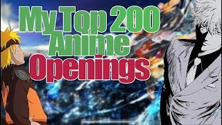 My Top 200 Anime Openings of All Time