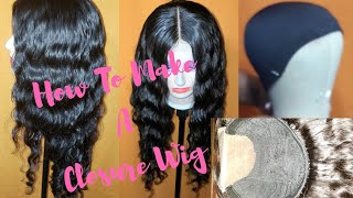 How To Make a Lace Closure Wig  Start to Finish / Gigi's Beautiful Locs