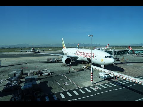 Ethiopian Airlines Boeing 777-200LR CapeTown to Addis Ababa