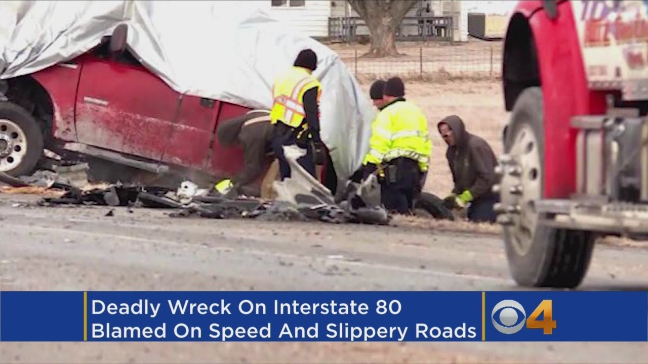 Speed, Slick Pavement Blamed For Collision That Killed 4