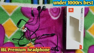 JBL Tune t205 Pure bass metal earbud headphones with mic (black) Unboxing & Review in hindi