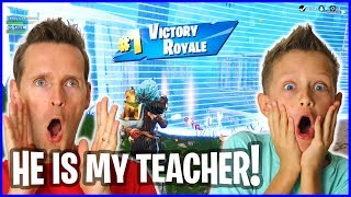 RonaldOMG TAUGHT ME HOW TO PLAY FORTNITE - VICTORY Royale!