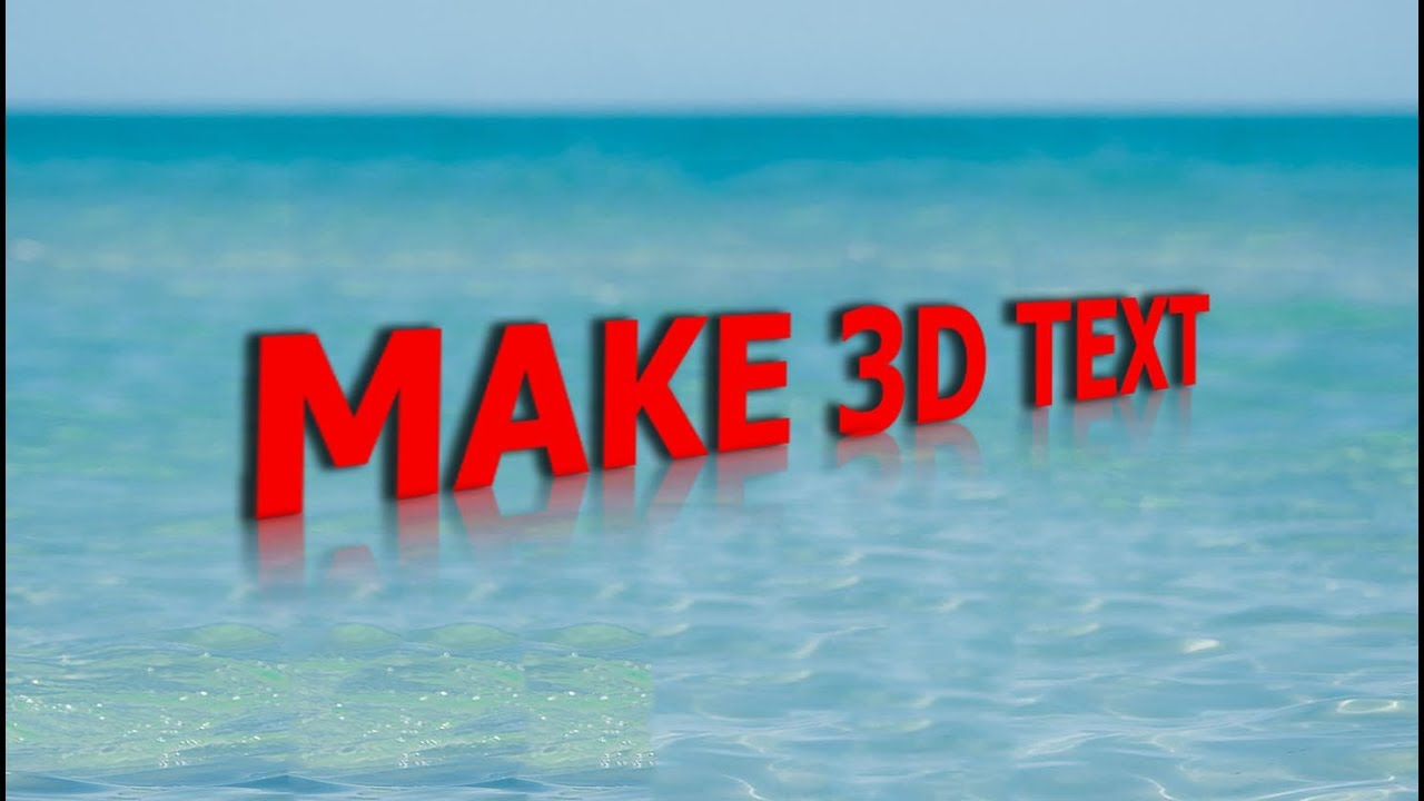How to create 3d text effect with distort in adobe photoshop cs6 how to create 3d text effect with distort in adobe photoshop cs6 2017 baditri Images