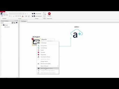 Prepare a device for acirro+ in WARP Engineering Studio and iX Developer