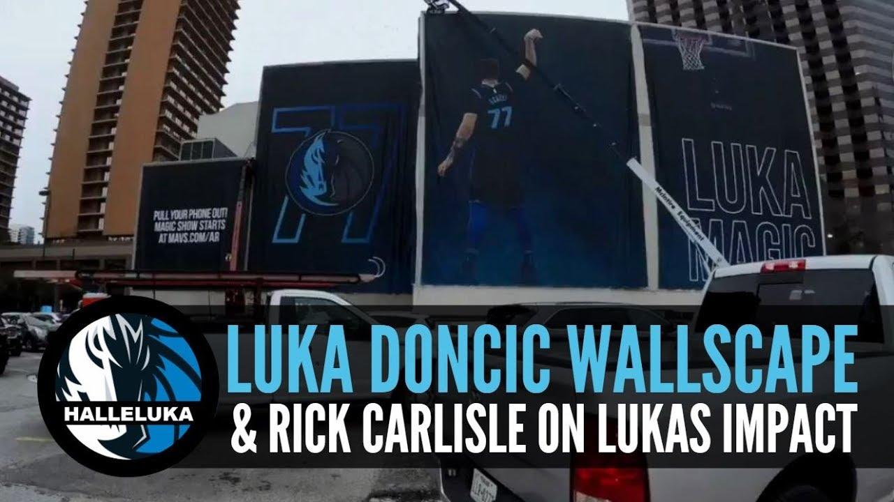 dddd7b9b122 Luka Doncic - Wallscape install and Rick Carlisle explains Lukas impact on  the Dallas Mavericks. Halleluka