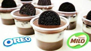 Resep Puding Lapis Oreo Milo   Oreo Dessert Box Tanpa Oven