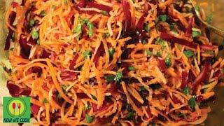 Зимний салат с редькой и красной капустой Рецепт winter salad recipe How we cook