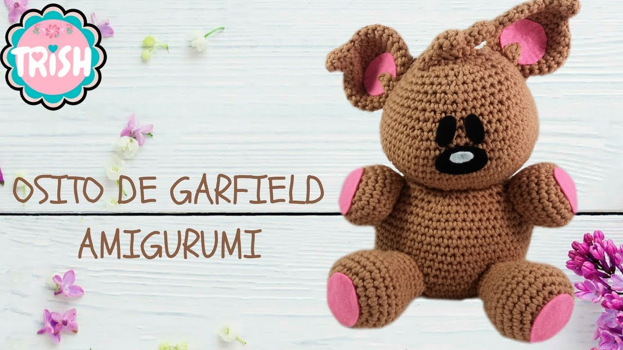 🐻COMO MONTAR EL OSITO DE GARFIELD AMIGURUMI - CROCHET 🐻🐻 - YouTube