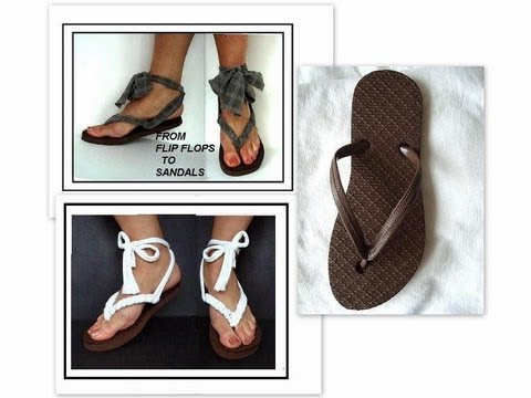 153cb5941aa8 TURN flip flops into grecian sandals