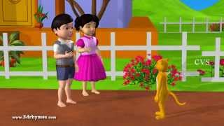 Pussy Cat Pussy Cat - 3D Animation English Nursery rhyme for children with lyrics