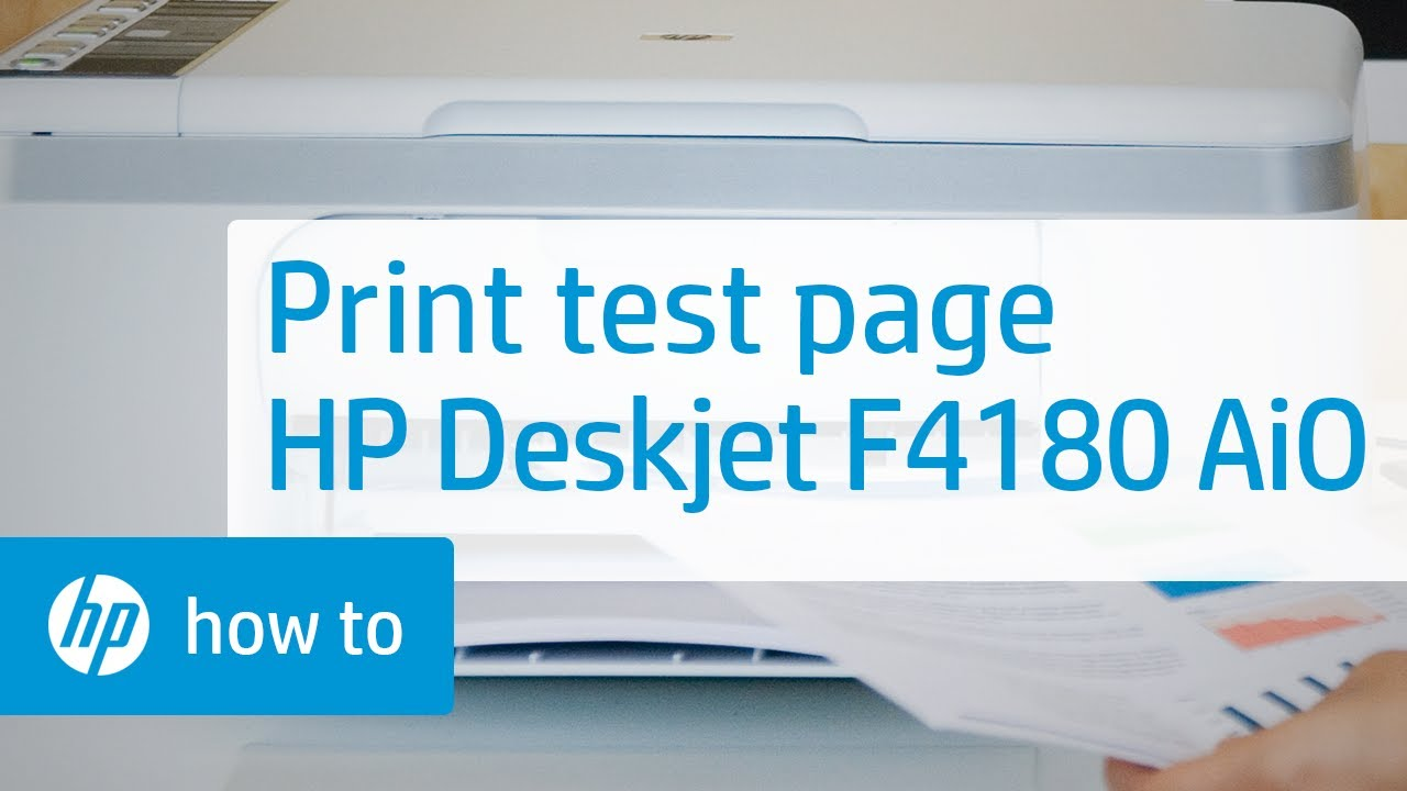 Printing A Test Page Hp Deskjet F4180 All In One Printer