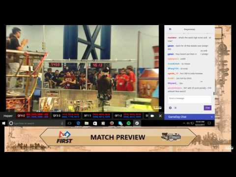 FIRST Championship Robotics - Houston Hopper Semi-Finals 4/22/17 George R Brown Convention Center