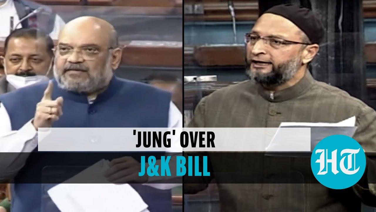 Download 'Owaisi doing Hindu-Muslim...': Amit Shah on J&K bill debate in Lok Sabha