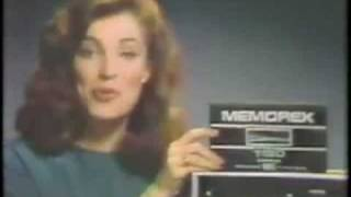 Memorex VHS Tapes Ad from 1982 - Is It Live Or Is It Memorex?