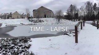 Snow Wonderland Charlotte NC- TIME LAPSE