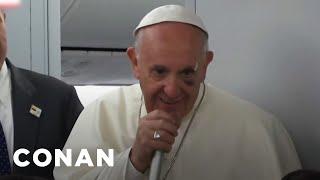 The Pope Explains How He Got A Black Eye  - CONAN on TBS