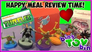 TMNT & Sweethearts (2015) Happy Meal Review Time + SHOUT OUTS! by Bin