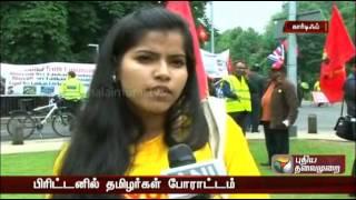 UK Tamils gather at cardiff protesting Sri lankan cricket