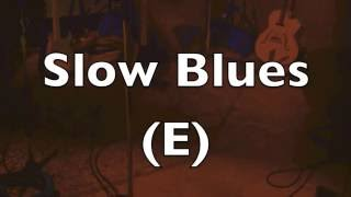 Slow Blues Backing Track (E) - Healing Music!