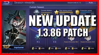 NEW UPDATE 1.3.86 PATCH NOTES 😲 - MOBILE LEGENDS