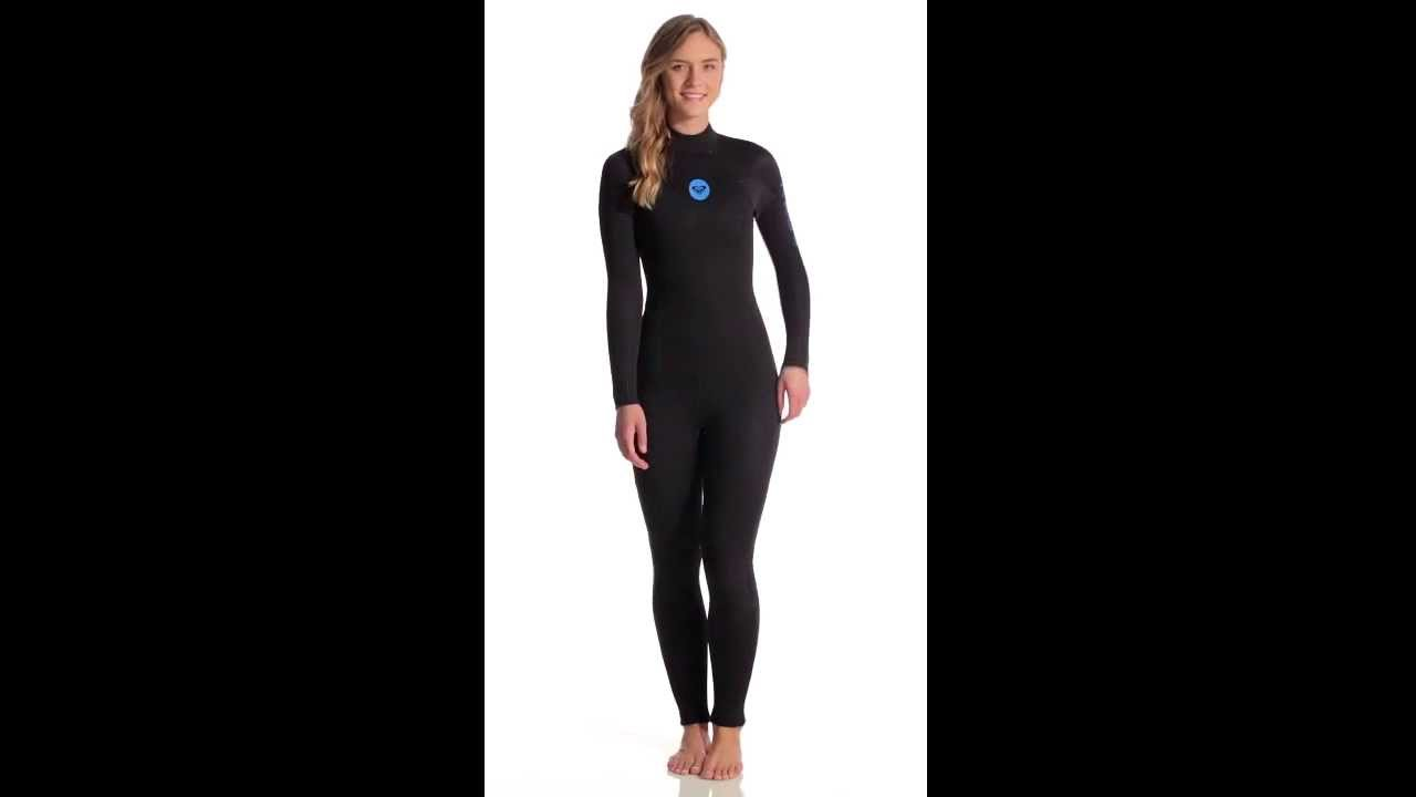 81a764a380 Roxy Women s 5 4 3mm Syncro Base Back Zip Full Suit Wetsuit ...