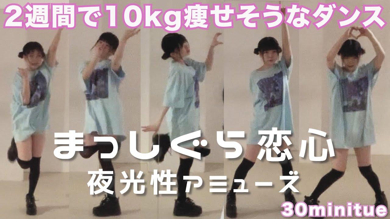 【ダイエット】2週間で10kg痩せそうなダンスを30分間踊り続けてみた②【夜光性アミューズ】
