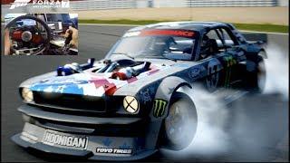 HARD 1400hp Hoonicorn RIVALS Drift Challenge Forza 7 W Fanatec Rig SLAPTrain