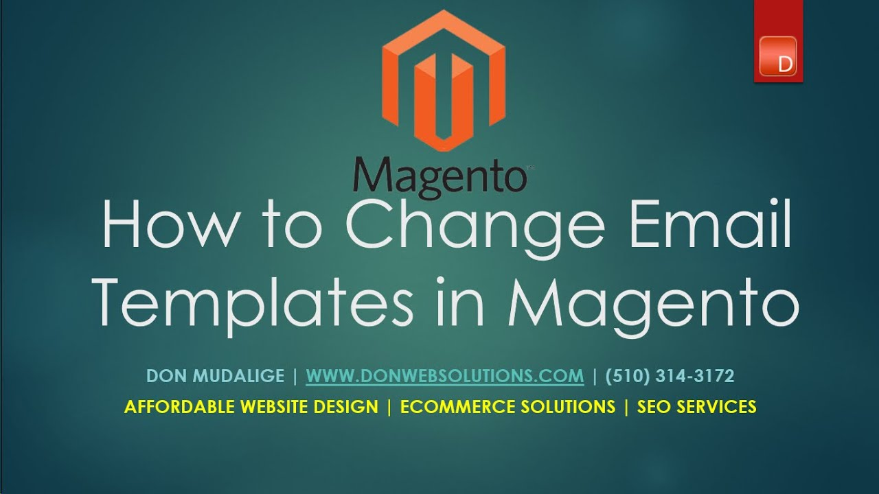 Customizing Magento email templates - Edit Store emails in Magento ...