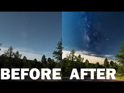 How To PHOTOGRAPH THE MILKY WAY During A Full Moon: CP FILTER FTW